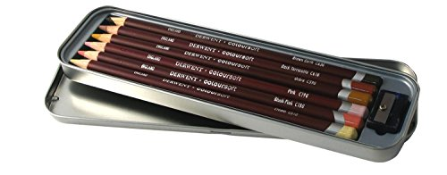 Derwent Colored Pencils, ColourSoft Pencils, Skintone, Drawing, Art, Metal Tin, 6 Count (2300217) (Derwent Burnisher)