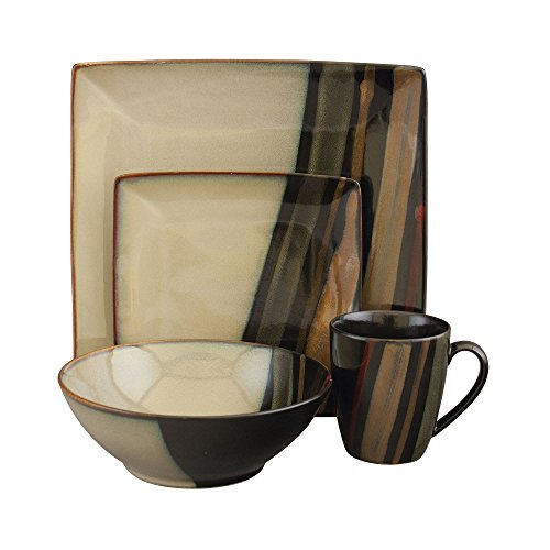 Sango Avanti Dinnerware, Black (Set of 16)