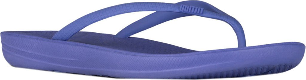 FitFlop Damen Iqushion Ergonomic Flip-Flops Peeptoe Sandalen, Gold  UK3|Blue Violet