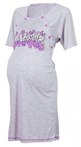 Happy Mama De Las Mujeres Maternidad Hospital vestido de uñas para trabajo y nacimiento. 193p morado