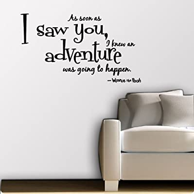 Large Quote As soon as I saw You ~ Winnie the Pooh New Wall Decal Decor Words Large Nice Sticker Quotes