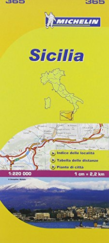 Michelin Map: Sicily 365 ( Italy ) 1:200K (Maps/Local (Michelin)) (Italian Edition)