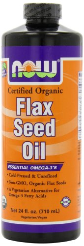 NOW Foods Organic Flax Seed Oil, 24 Ounces