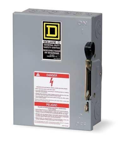 SQUARE D BY SCHNEIDER ELECTRIC - DU322 - SWITCH NOT FUSIBLE GD 240V 60A 3P NEMA1