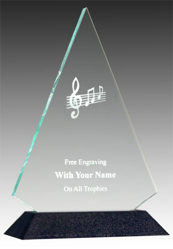 Engraved Acrylic Awards - QuickTrophy Music Note Acrylic Triangle