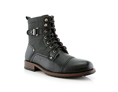 Mens Boots With Buckles - 1