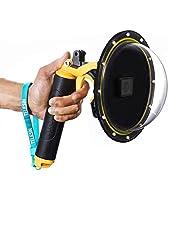 voor GoPro Dome Hero Black 7 6 5 2018, Dome GoPro-poortlens Transparante hoes met drijvende handgreep en pistooltrigger voor duiken, onderwater Waterdichte 30M Action Camera Accessoire Behuizing Case