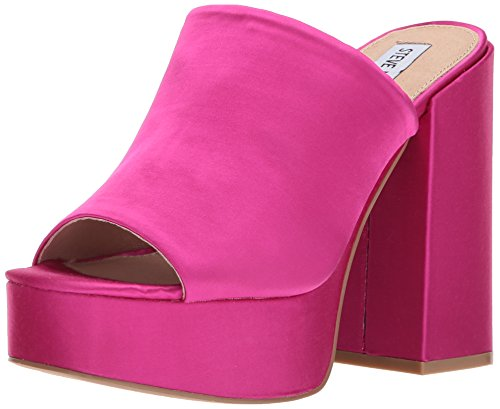 Fuschia Satin Sandals (Steve Madden Women's Cassy Heeled Sandal, Fuschia Satin, 7 M US)