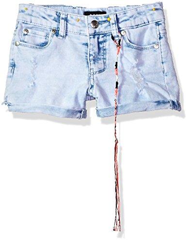 Acid Light Wash (DKNY Girls' Little Casual Short, Cuffed Denim Light Acid wash, 6)