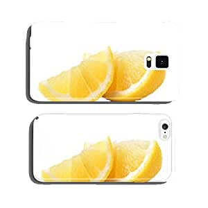 Slice of lemon fruit isolated on white background cell phone cover case iPhone6 Plus