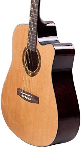 GFEI _ color madera Cutaway guitarra guitarra guitarra balada ...