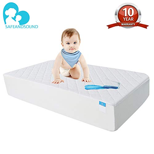 Crib Mattress Protector Organic Bamboo, Waterproof Quilted Fitted Sheet with 28'' x 52'' Hypoallergenic Baby Crib Mattress Cover Pad (Best Nappies To Use At Night)