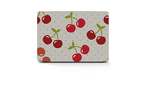 MacBook Accessories 13 Inch Summer Fruit Cherry Blueberry Drink Plastic Hard Shell Compatible Mac Air 11 Pro 13 15 2018 MacBook Pro Accessories Protection for MacBook 2016-2019 Version