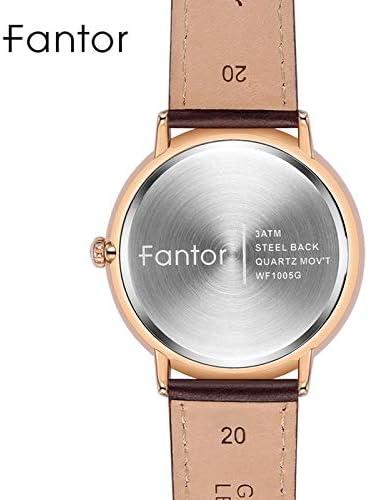 Wrist Watches Minimaliste Classique Hommes en Cuir de Montre for Homme Lumineux Main Date de Montres à Quartz (Color : WF1005G03) WF1005G01