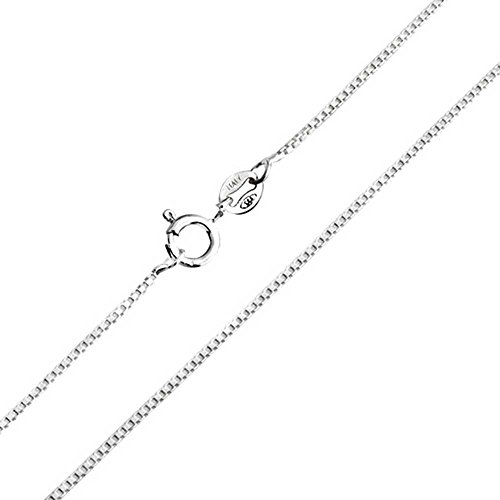 1mm thick solid sterling silver 925 stamped Italian designer BOX briolette square venetian cube link chain necklace chocker bracelet anklet with spring ring clasp jewellery jewelry - Available in lengths: inch 6