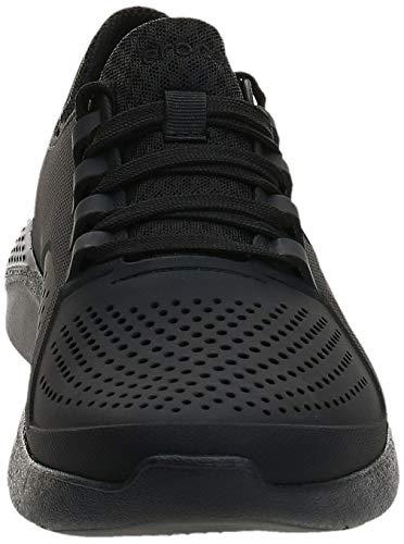 Crocs Men's LiteRide Pacer Sneaker, Black, 10 M US