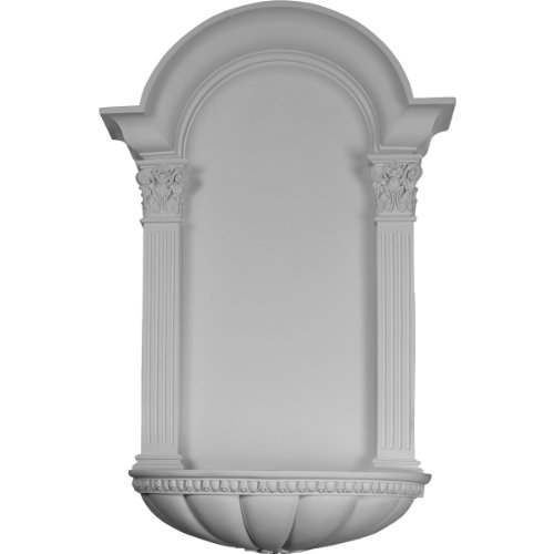 (Ekena Millwork NCH27X42EG Wall Niche Factory Primed White)