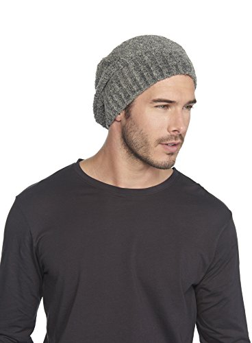 Barefoot Dreams CozyChic Lite Ribbed Beanie Heathered Loden/Carbon