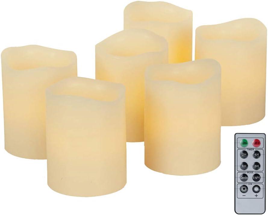 Bougie LED Flamme Vacillante Chauffe Plat pour Anniversaire No/ël Lumi/ère de Bougie C - 12 PCS