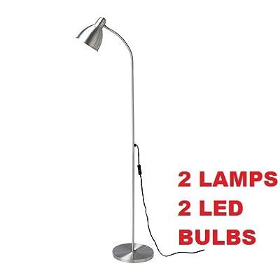 Ikea 001.950.07 Lersta Floor/Reading Lamp and E26 11W 550 Lumen LIGHT BULB