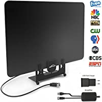 HDTV Antenna, BESTHING Indoor Amplified Digital TV Antenna 50 Mile Range with Detachable Amplifier Signal Booster, 13foot Coax Cable and Power Adapter - Upgraded Version