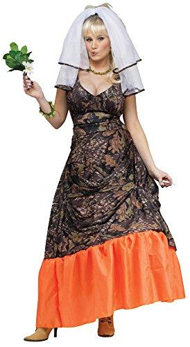 [Redneck Camouflage Bride Adult Costume] (Redneck Costumes For Women)
