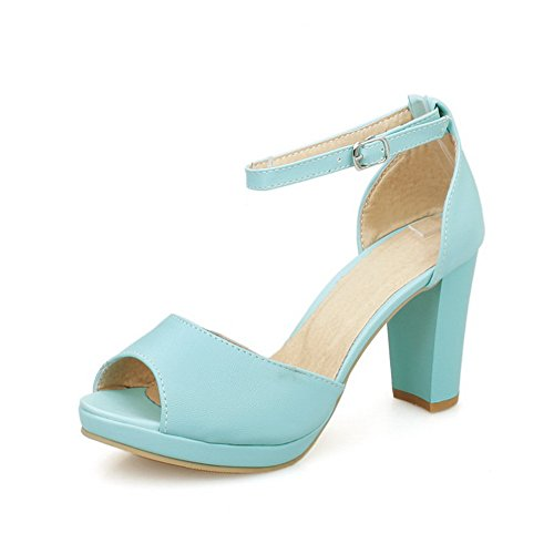 In Womens Asl04854 Alto Balamasa Tacco Blu Sandali Sandals Uretano Huarache 4fq7xOw