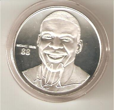 (Highland Mint NFL Football Collectible Coin Silver: Michael Irvin - Dallas Cowboys - Hall of Fame)