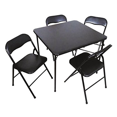 Plastic Development Group 5 Piece Card Durable, Made of Materials, Neat, Comfortable, Lightweight, Easy to Carry Anywhere, Folding Table and Chair Set