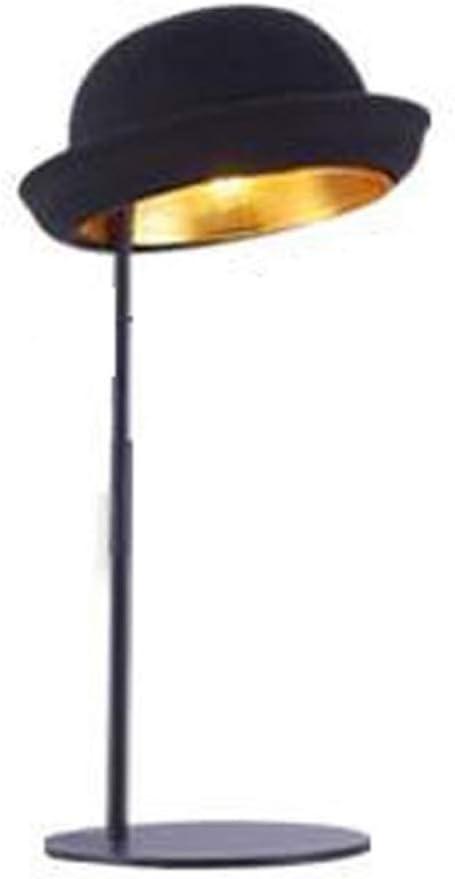 Lqpjjtd Lámpara de mesa vintage, estilo sombrero de copa, persona ...