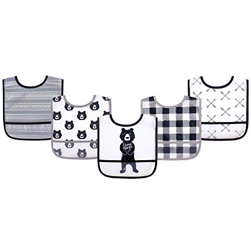 Yoga Sprout Baby Waterproof Bibs, Bear Hugs 5Pk, One Size