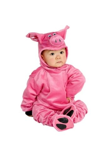 Wilbur Halloween Costume (Charades Little Pig Costume Baby Costume, -Pink,)