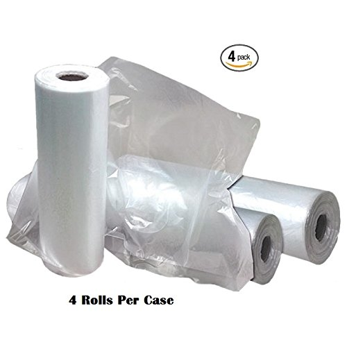 4 Rolls - Plastic Roll Bags for Fruits, Vegetable, Bread, Food Storage Clear Bags (18''x24'') by Eagle