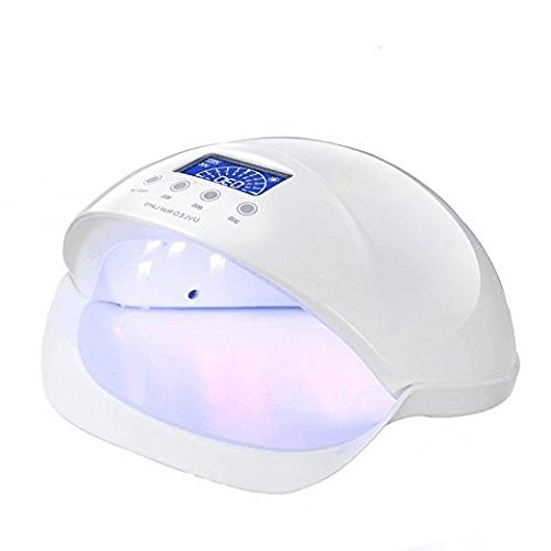 CO-Z 50W LED UV Nail Dryer Curing Lamp Led Gel Nail Lamp for Gel Polishs Nails Manicure Pedicure (White)