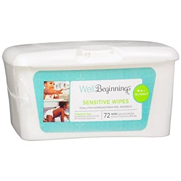Well Beginning Premium Baby Wipes 72 Count Hard Case