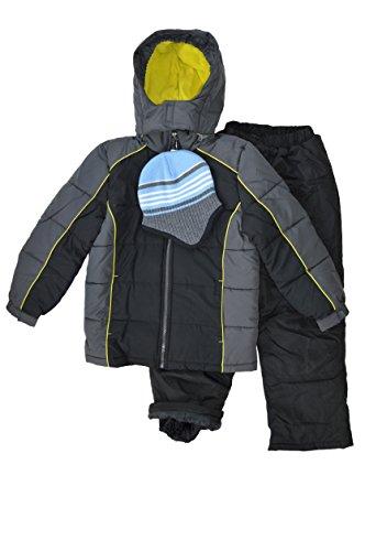12 Snowsuit - Snowsuits for Kids Boy's 3-Piece Active Snowsuit (10-12, Goldenrod)