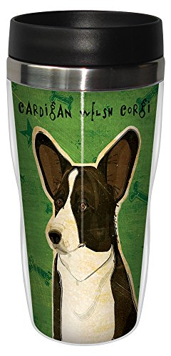 (Tree-Free Greetings sg24035 Cardigan Welsh Corgi by John W. Golden 16-Ounce Sip 'N Go Stainless Steel Lined Travel Tumbler)