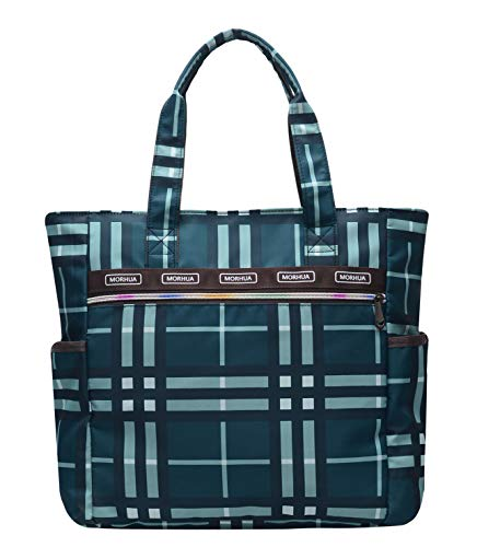 Handbag Shoulder Bags Tote Bag Waterproof Large Lightweight Travel Totes Gym Totes for Gym Hiking Picnic Travel Beach (TB Blueplaid) (Picnic Handbag)
