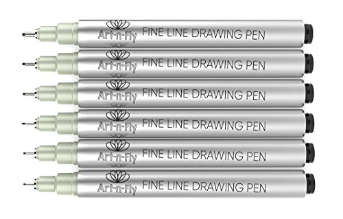 Black Fine Tip Inking Pens For Drawing Archival Ink Pen Fineliner Sketching Pens for Artist Drafting Manga Pens Writing (Best Pens For Line Art)