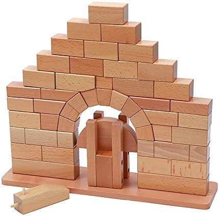 Montessori Toys Roman Arch Bridge Science and Culture Teaching Materials Early Education Teaching Aids Children's Sense and Wisdom Building Blocks Toys 3 Years Old +