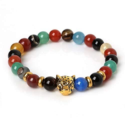 Amazon.com: New Lava Stone Onyxleopard Charm Bracelet ...
