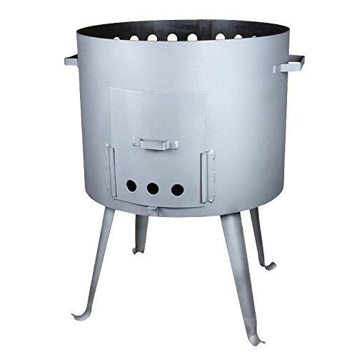Utschak, H: 65 cm, Durchmesser: 40 cm, 12L Feldküche, Gulaschkessel Feuerkessel Kessel Outdoor 12L Feldküche rukauf