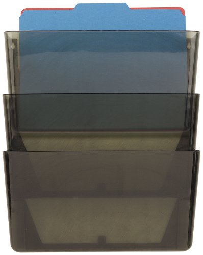 (Officemate Wall File, Smoke, Set of 3 (21421))