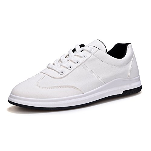 da Low Scarpe Cricket Top Casual Canvas Uomo White Suola Lace Sneaker Scarpe Sportive Piatta up Mocassini da qzzwOTE