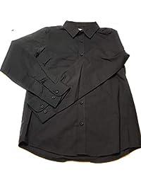 Boys Long Sleeve Black Dress Shirt for School Uniform or Party Size XL 14-16 Large