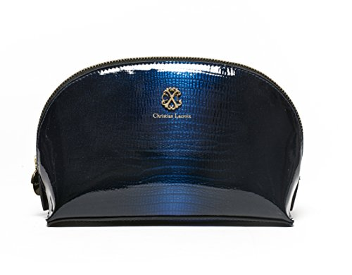 cxl-by-christian-lacroix-patent-dome-cobalt-blue-cosmetic-case-in-gift-box