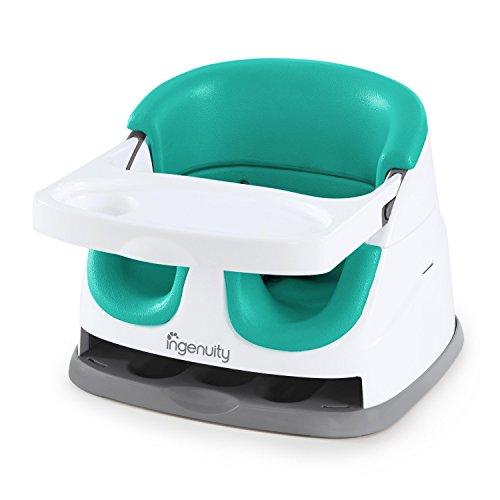 Ingenuity Baby Base 2-in-1 Seat - Ultramarine Green - Booster Feeding Seat