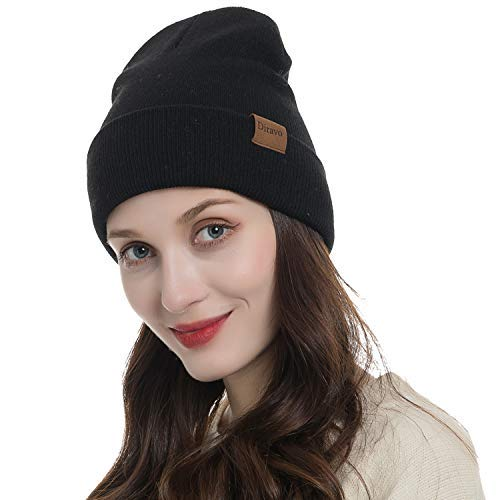 Beanie Cuff (Warm Beanie Hat Men Women Warm Cable Knitted Hat Winter Soft Stretch Chunky Cuff Beanie)
