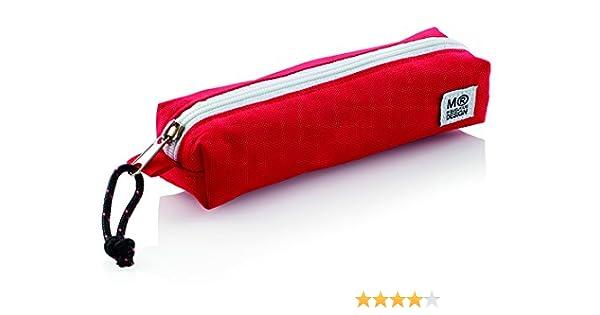 Miquel Rius 936278 - Estuche mini triple, color rojo: Amazon.es: Oficina y papelería