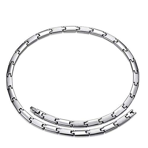 Rando Health Necklace,Magnetic Therapy,Link Chain Necklace for Men Women,Titanium Germanium Energy Choker Necklace for Neck Arthritis Headaches Shoulder,Pain Relief Jewelry